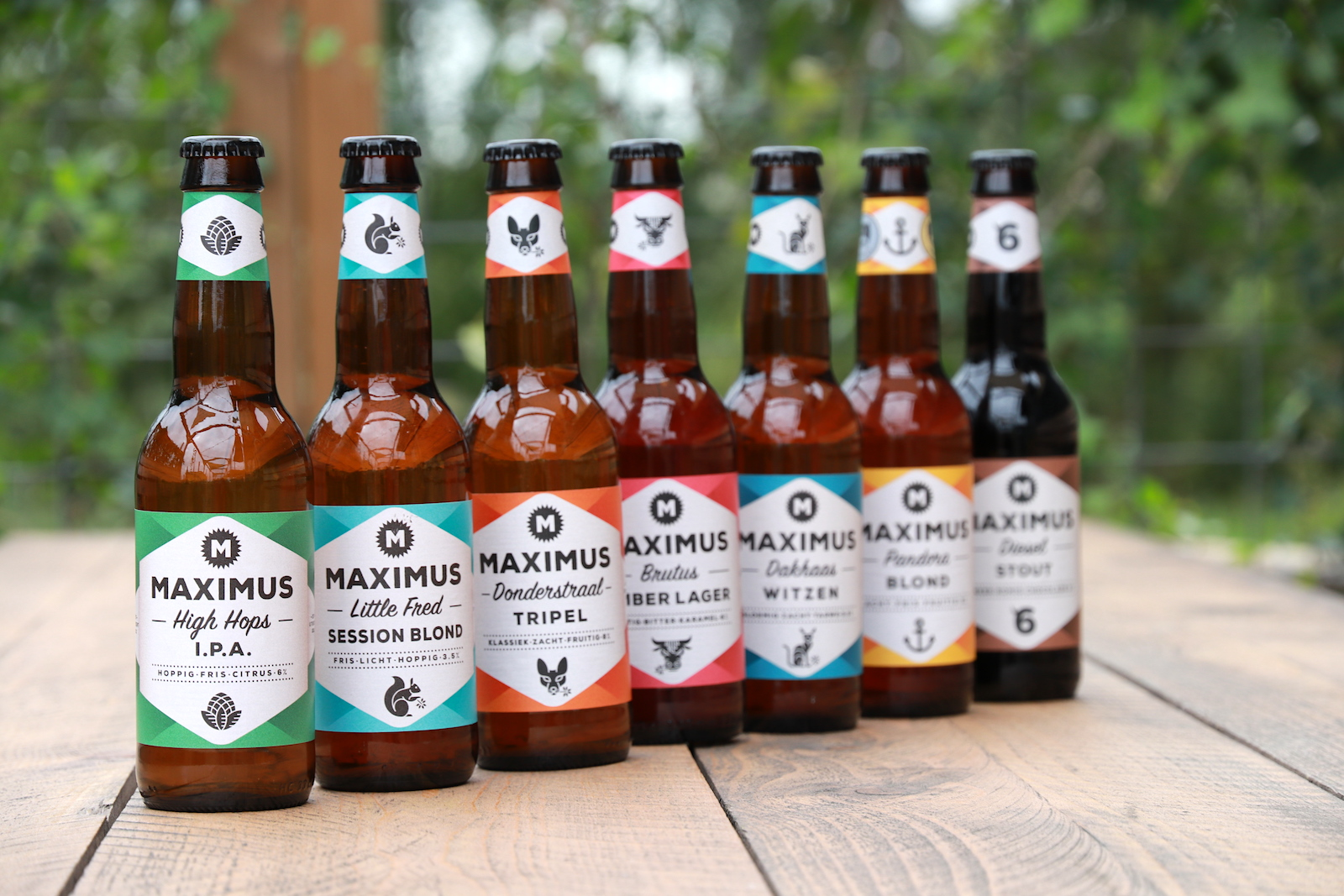 Core range of Brouwerij Maximus