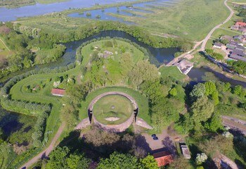 Aerial pic of Fort Everdingen (credits: Joris Voeten, Roofscapes)
