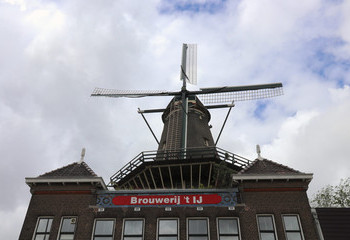 The iconic windmill right next door
