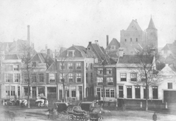 City castle Oudaen as seen from Vredenburg square in the 19th century
