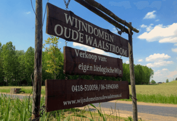 Entrance of Wijndomein Oude Waalstroom