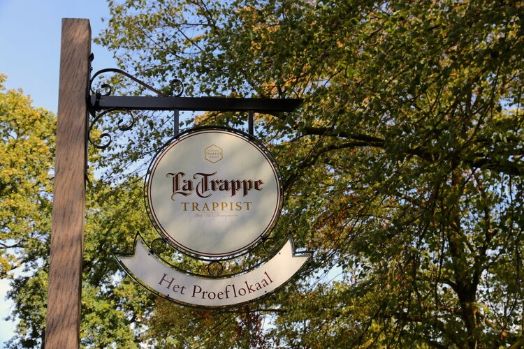 Outdoor sign La Trappe brewery & taproom