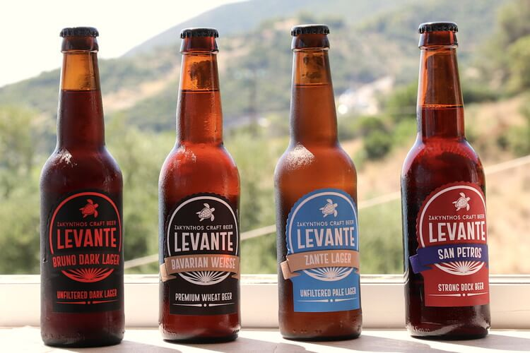 The core range of Levante brewery